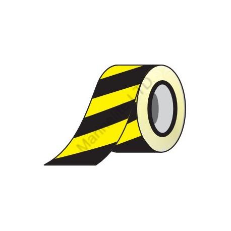 Yellow/Black Adhesive Barrier Tape  (4.8cmx20m) IMO sign 122006 B