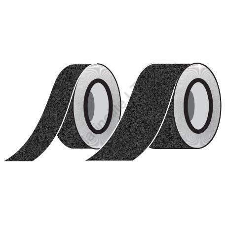 Black Anti-Slip Tape  (10cmx18,3m) IMO sign 12-0033(10)