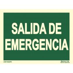 SALIDA DE EMERGENCIA  (15x20cm) Vin. fotolumi. Señal IMO  230140-16(SP)