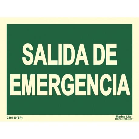 EMERGENCY EXIT   (15x20cm) Phot.Vin. IMO symbol 230140-16