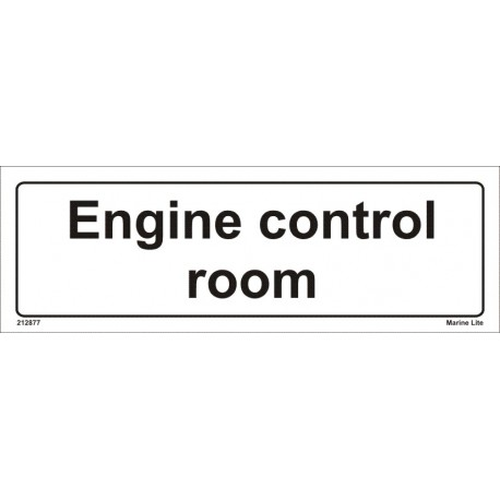ENGINE CONTROL ROOM (10x30cm) White Vin. IMO sign 212877WV