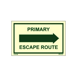 Primary escape route right  (6.4x4.1cm) Phot.Vin. IMO sign 11-0108R