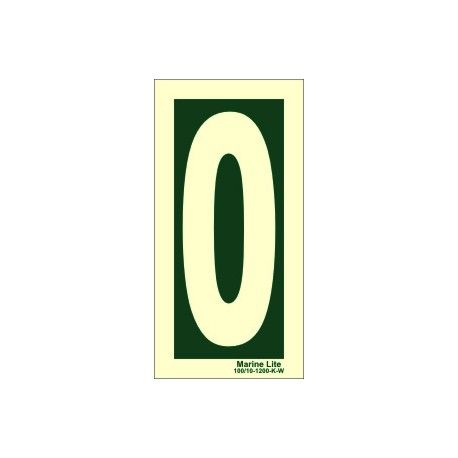 NUMBER 0 (30x15cm) Phot.Vin. IMO sign 104240