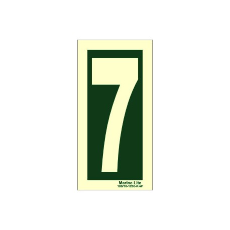 NUMBER 7  (30x15cm) Phot.Vin. IMO sign 104247