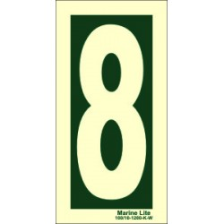NUMBER 6  (30x15cm) Phot.Vin. IMO sign 104246