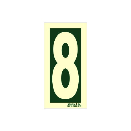 NUMBER 8  (30x15cm) Phot.Vin. IMO sign 104248