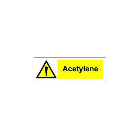 ACETYLENE  (10x30cm) White Vin. IMO sign 187701WV