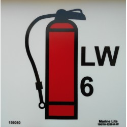 FOAM FIRE EXTINGUISHER 9KG  (15x15cm) Phot.Vin. IMO sign 156080