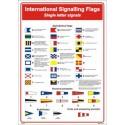 Póster INTERNATIONAL SIGNALLING FLAG  (45x32cm) White Vin. IMO symbol 221579WV