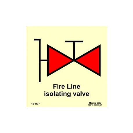 FIRE LINE ISOLATION VALVE (15x15cm) Phot.Vin. IMO sign 15-0137