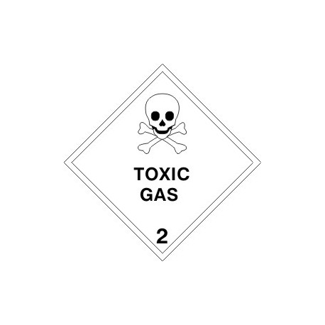 Señal IMO CLASE 2.3 GAS TÓXICO (10x10cm) vinilo blanco autoadhesivo 172209(08) MAC WV
