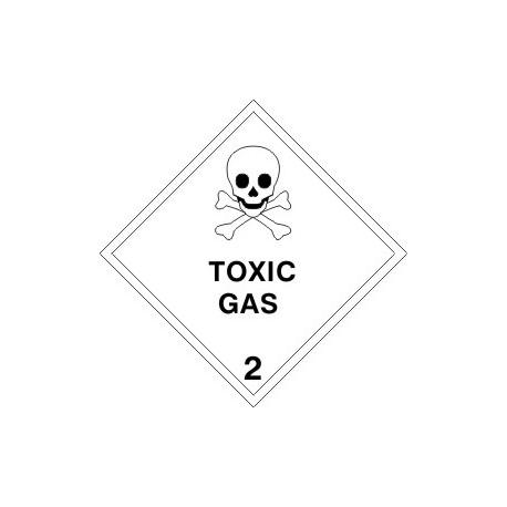 HAZARD CLASS 2.3 TOXIC GAS (10x10cm)  White Vin. IMO symbol 172209(08) MAC