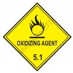 CLASS 5.1 OXIDIZING SUBSTANCES (10x10cm) White Vin. IMO symbol 172213(08) MAC WV