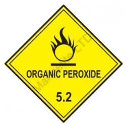 Señal IMO CLASE 5.2 PERÓXIDO ORGÁNICO (10x10cm) vinilo blanco autoadhesivo 172214(08) MAC WV