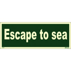 ESCAPE TO SEA (15x40cm) Phot.Vin. IMO sign 114341