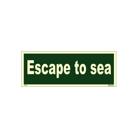ESCAPE TO SEA (15x40cm) Phot.Vin. IMO sign 114341