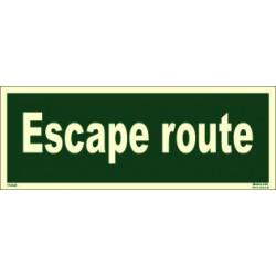 ESCAPE ROUTE  (10x30cm) Phot.Vin. IMO sign 114340