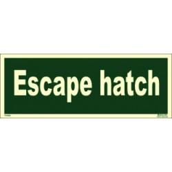 ESCAPE HATCH  (10x30cm) Phot.Vin. IMO sign 114342