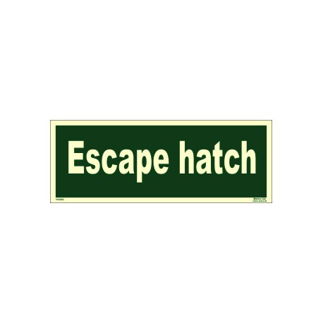 ESCAPE HATCH  (15x40cm) Phot.Vin. IMO sign 114342(13)