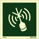 E.P.I.R.B EPIRB W/OUT TEXT  (15x15cm) Phot.Vin. IMO sign 104064 / LSS017