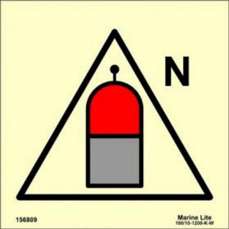 REMOTE NITROGEN RELEASE STATION  (15x15cm) Phot.Vin. IMO sign 156809