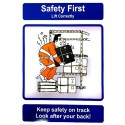 THINK SAFETY - KEEP SAFETY ON TRACK, LOOK AFTER... (40x30cm) Safety poster TSBM74WV/ 221104