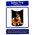 THINK SAFETY- CONFINED SPACES (40x30cm) Safety poster TSBM74WV/ 221108