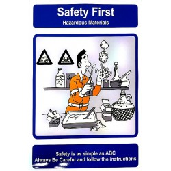 THINK SAFETY- HAZARDOUS MATERIALS (40x30cm) Safety poster TSBM74WV/ 221103
