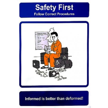 FOLLOW CORRECT PROCEDURES (40x30cm) Safety poster TSBM74WV/ 221106