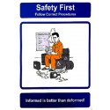 SAFETY FIRST - FOLLOW CORRECT PROCEDURES (40x30cm) Safety poster TSBM74WV/ 221106