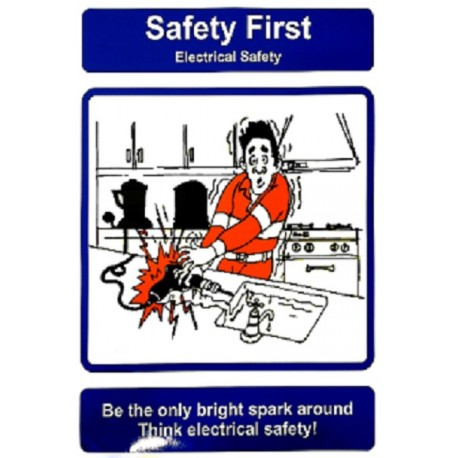 ELECTRICAL SAFETY (40x30cm) Safety poster TSBM74WV/ 221110