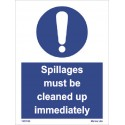 SPILLAGES MUST BE CLEANED UP IMMEDIATELY  (20x15cm) White Vin. IMO symbol 195740WV