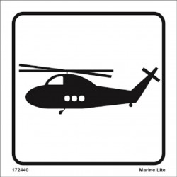 Helicopters (15x15cm) White Vin. IMO sign 172440WV