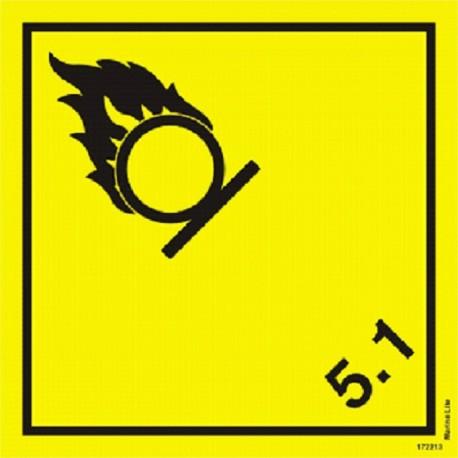 HAZARD CLASS 5.1 OXIDIZER (25x25cm) White Vin. IMO symbol 172213 MAC WV