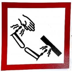 CORROSIVE (10x10cm) White Vin. IMO symbol 172285 MAC WV