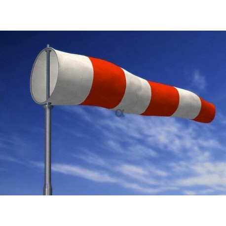 Manga de viento 160 cm. Aro 40 cm. Ø con mosquetón giratorio galvanizado