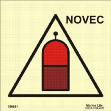 REMOTE RELEASE STATION FOR NOVEC (15x15cm) Phot.Vin. IMO sign 156891