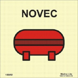 FIXED NOVEC EXTINGUISHER INSTALLATION  (15x15cm) Phot.Vin. IMO sign 156892