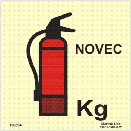 PORTABLE NOVEC FIRE EXTINGUISHER  (15x15cm) Phot.Vin. IMO sign 156894