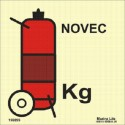 WHEELED NOVEC FIRE EXTINGUISHER  (15x15cm) Phot.Vin. IMO sign 156895