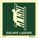 ESCAPE LADDER (15X15) Photol. Vin IMO sign 10-0531