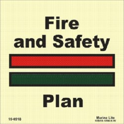 Fire & Safety Plan (15X15) Photol. Vin IMO sign 15-0918