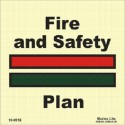 FIRE AND SAFETY PLAN (15X15 cm) Photol. Vin IMO sign 150918