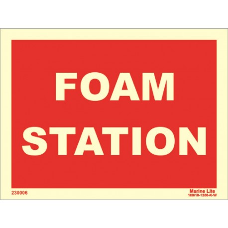 FOAM STATION  (15x20cm) Phot.Vin. IMO sign 230006