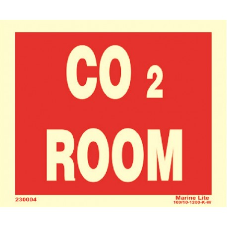 CO2 ROOM  (15x20cm) Phot.Vin. IMO sign 230004