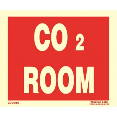 Señal IMO SALA DE CO2 (15x20cm) vinilo fotoluminiscente 230004