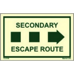 Secondary escape route right  (6.4x4.1cm) Phot.Vin. IMO sign 11-0109R