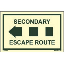 SECONDARY ESCAPE ROUTE LEFT (6.4x4.1cm)  Phot.Vin. IMO sign 110109L