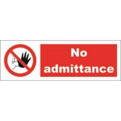 NO ADMITTANCE (10x30cm) White Vin. IMO symbol 208549WV