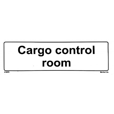 CARGO CONTROL ROOM  (10x30cm) White Vin. IMO sign 212878WV